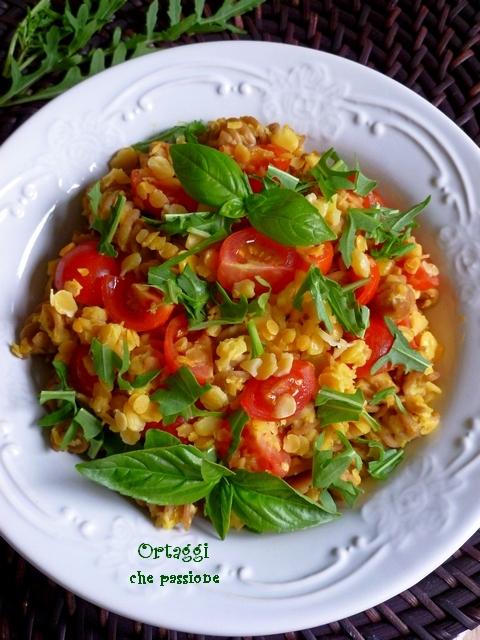 Ricetta insalata estiva con legumi secchi decorticati Ortaggi che passione