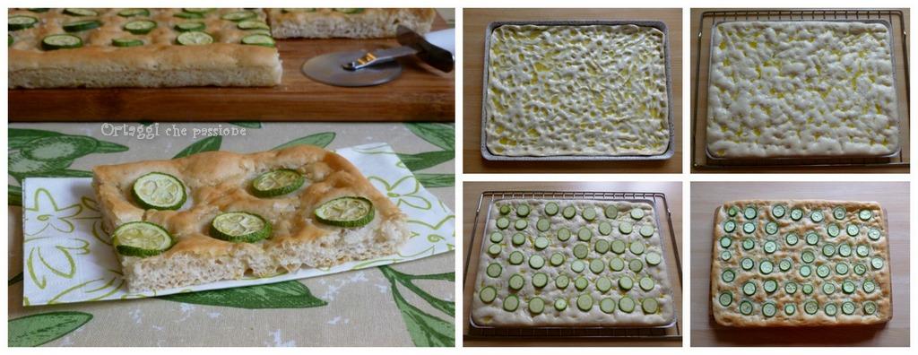 Collage Focaccia con zucchine - Ortaggi che passione by Sara