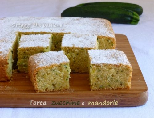 Torta zucchine e mandorle