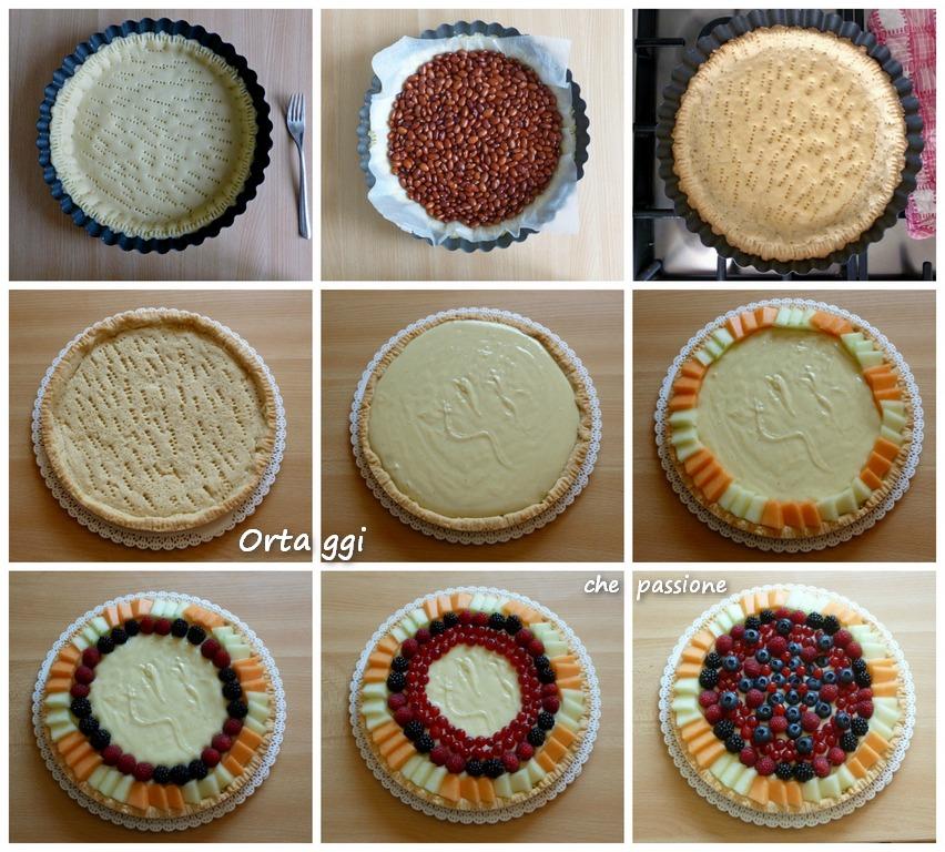 ricetta crostata di frutta - collage - Ortaggi che passione by Sara