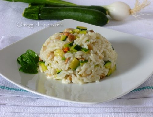 Risotto canestrelli e zucchine, ricetta