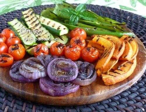 VERDURE GRIGLIATE, come grigliare le verdure e condirle
