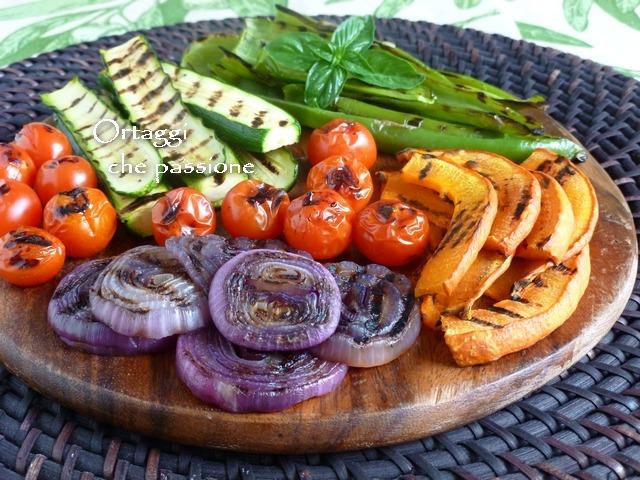 VERDURE GRIGLIATE, come grigliare le verdure, come condire le verdure grigliate
