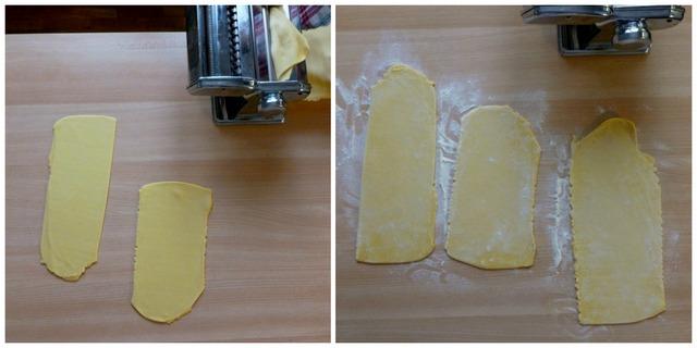 Tagliatelle, pasta fresca con nonna papera