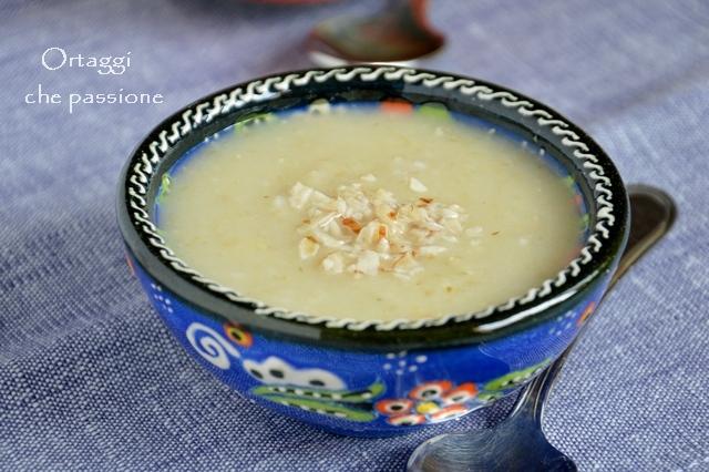 minestra di cavolfiore, avena, ricette con cavolfiore bianco - Ortaggi che passione by Sara