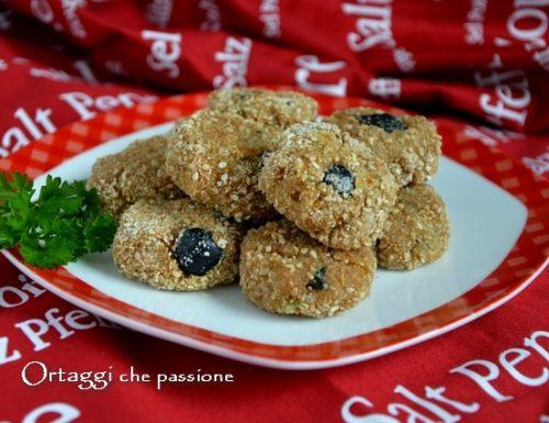 polpette di tonno, ricetta con olive nere, cereali