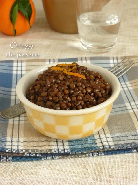 Ricetta lenticchie all'arancia