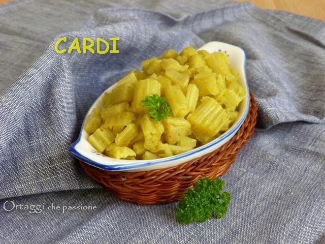 Cardo, cottura in bianco - al forno - in padella