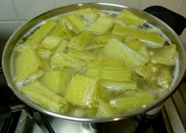 cardo lessatura cottura in bianco