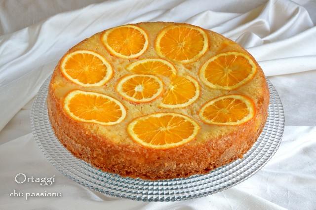 Torta rovesciata all arancia, dolce con arance