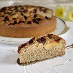 Torta grano saraceno e yogurt con mele e confettura, dolci senza glutine