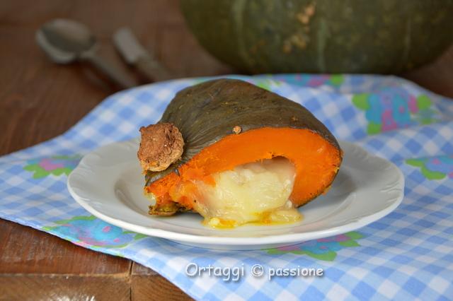 zucca ripiena al forno con formaggio fuso, Ortaggi che passione by Sara