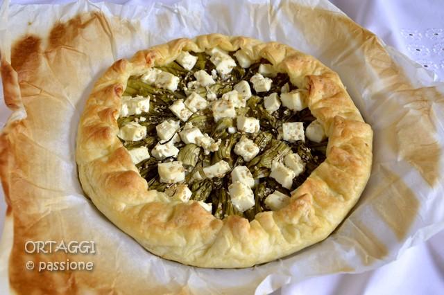 Torta salata con puntarelle, Ortaggi che passione by Sara Grissino
