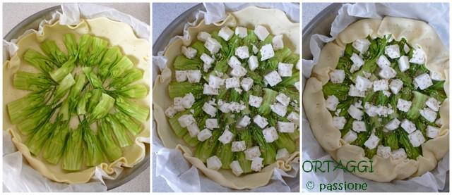 Torta salata con puntarelle, Ortaggi che passione by Sara