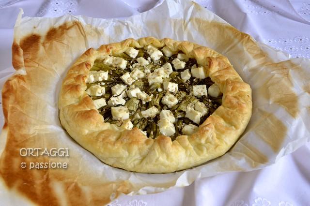 Torta salata con puntarelle, Ortaggi passione Sara