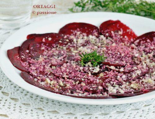 Carpaccio di rapa rossa, antipasto vegano – ricetta antipasto freddo