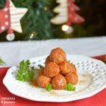 Antipasto di Natale veloce, polpettine rosse con acciughe