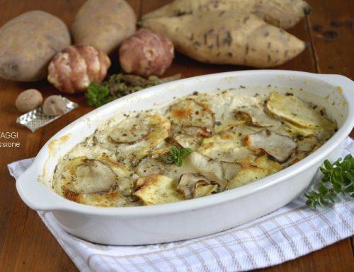 Topinambur e patate al forno #LaCucinadelSenza