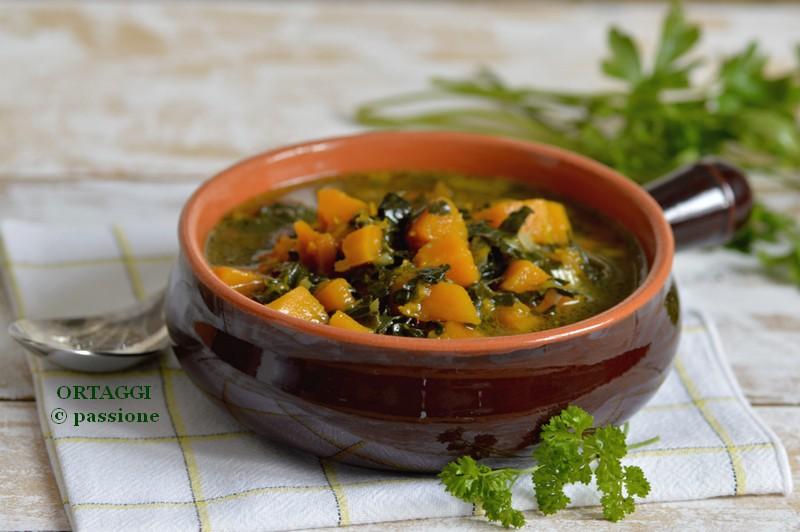 Zuppa cavolo nero e zucca, ricetta invernale ORTAGGI © passione