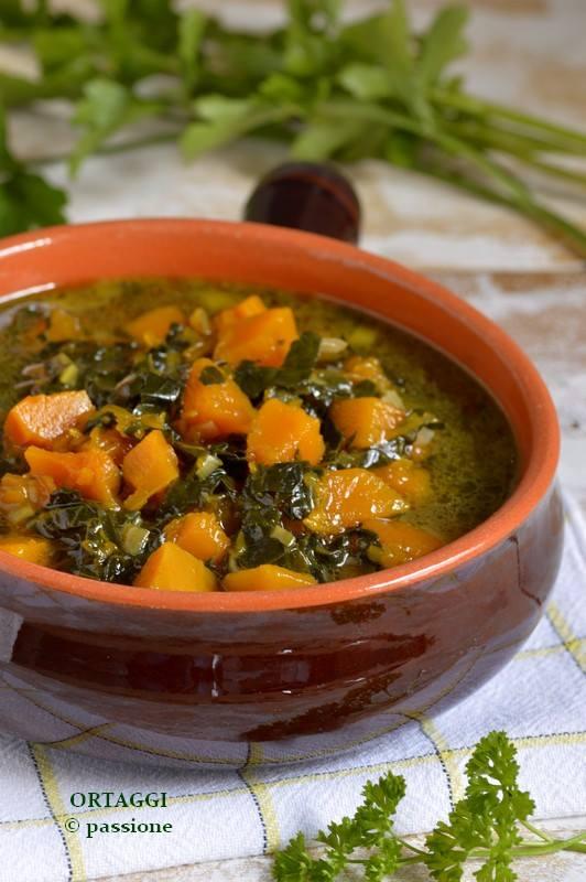 Zuppa cavolo nero e zucca, ricetta invernale