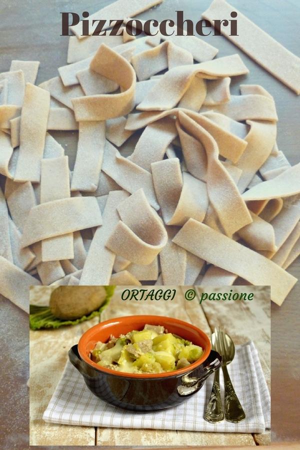 Pizzoccheri alla valtellinese- ricetta classica - classic Italian recipe - ORTAGGI © passione by Sara Grissino