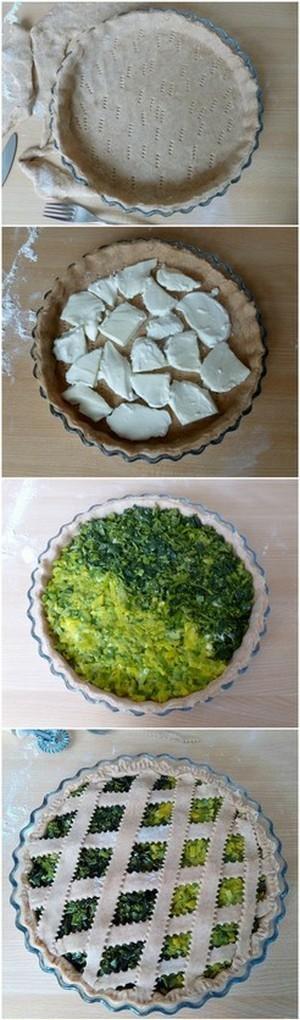 Torta salata con verdure e formaggio ricetta bicolore e bigusto ORTAGGI che passione by Sara Grissino