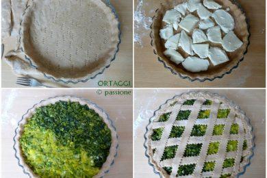 Torta salata con verdure, ricetta bicolore