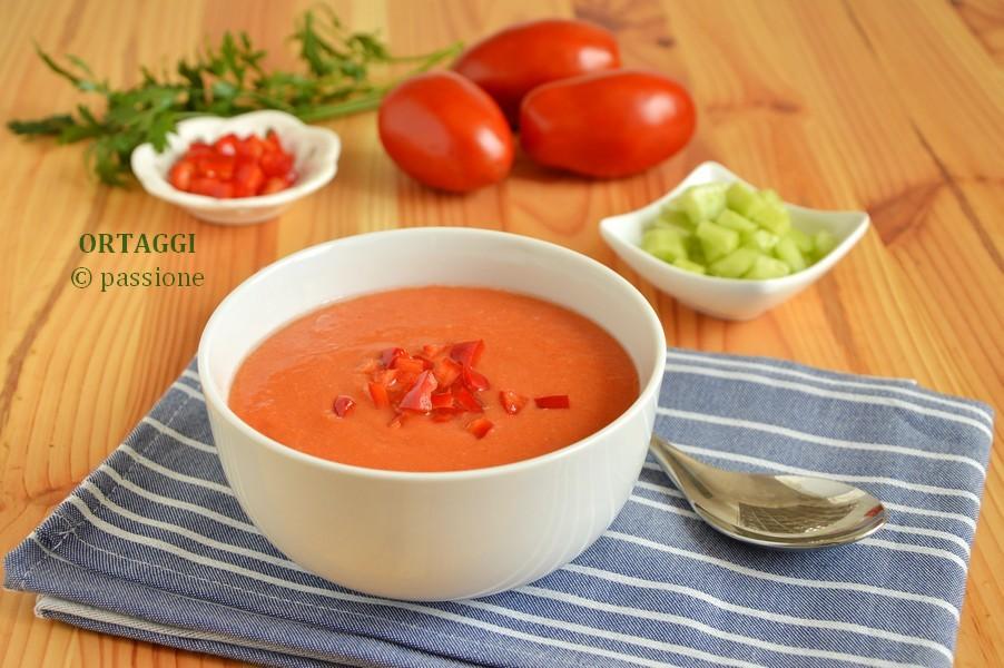 Ricetta Gazpacho Facile.Gazpacho Buonissimo Ricetta Veloce Senza Cottura Ortaggi Che Passione