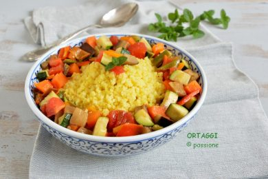 Cous cous con verdure al forno