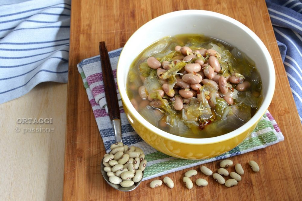 Zuppa con fagioli verdòn e scarola ORTAGGI © passione