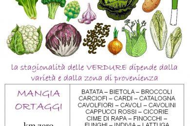 FEBBRAIO calendario verdura di stagione