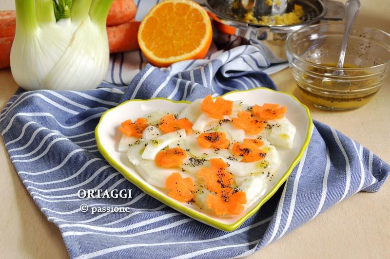 Insalata di finocchi e carote all'arancia ORTAGGI © passione