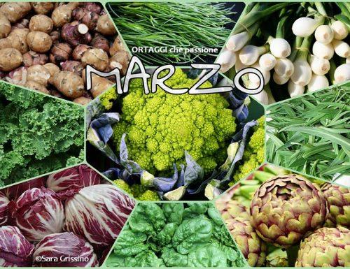 MARZO calendario verdura di stagione