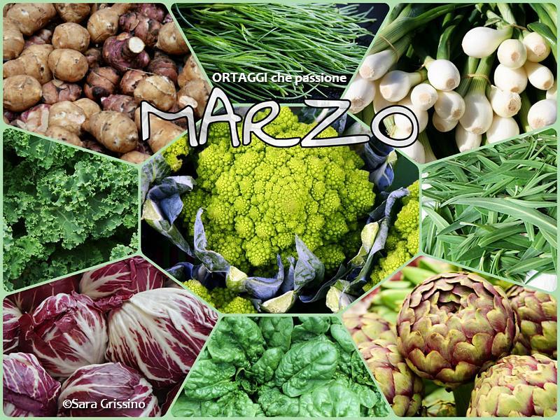 marzo calendario verdura di stagione ORTAGGI che passione by Sara Grissino