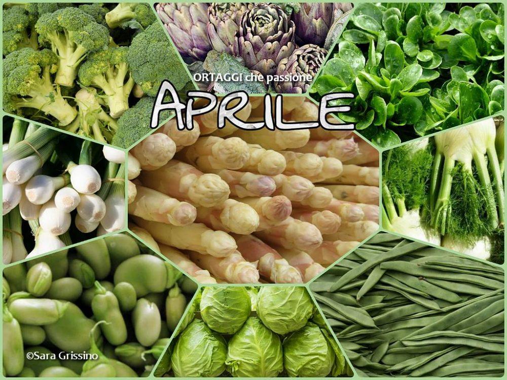 Aprile calendario verdura di stagione ORTAGGI che passione - verdure mese per mese