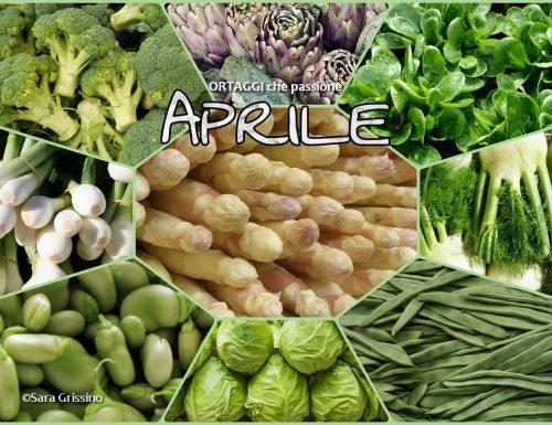 APRILE calendario verdura di stagione