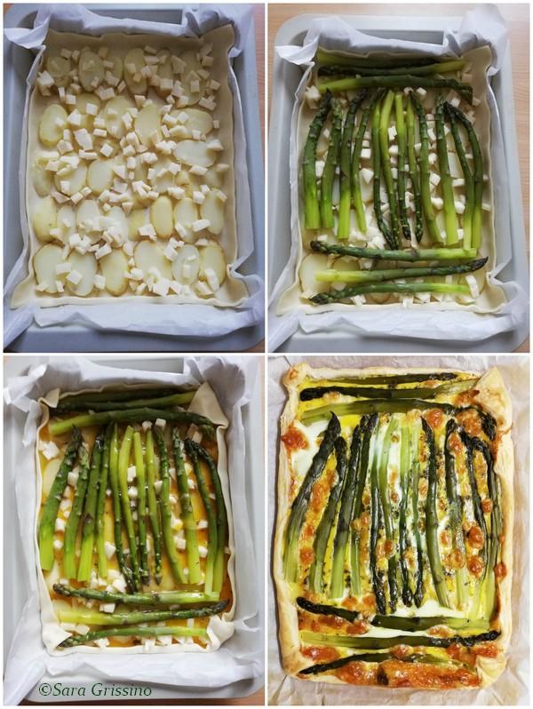 Torta salata asparagi e patate © Sara Grissino