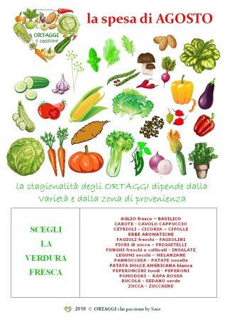 08 AGOSTO calendario verdura di stagione