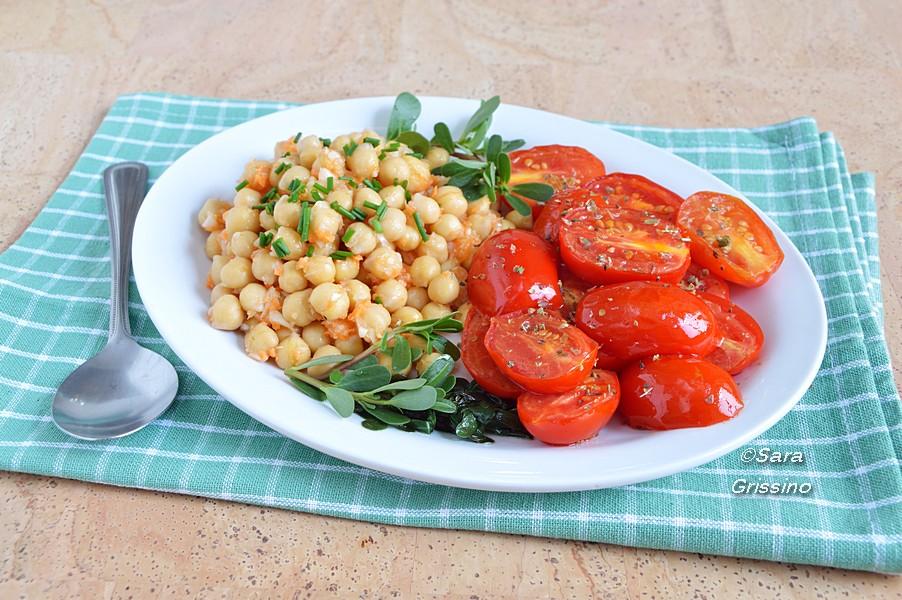 insalata di ceci con pomodorini ORTAGGI che passione by Sara Grissino