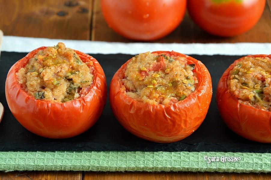 Pomodori ripieni con pangrattato al forno veg ORTAGGI CHE PASSIONE by Sara
