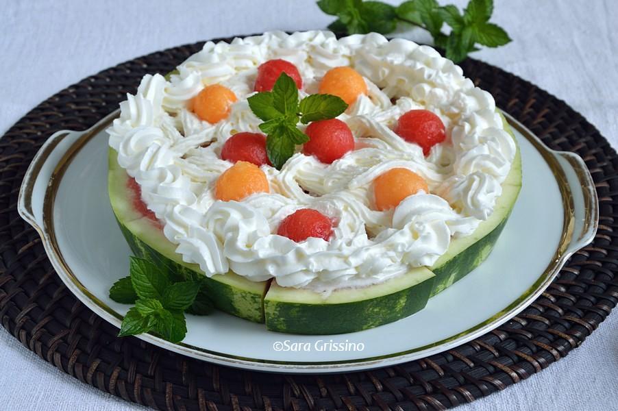 Torta di anguria - dolci senza cottura ORTAGGI CHE PASSIONE by Sara Grissino