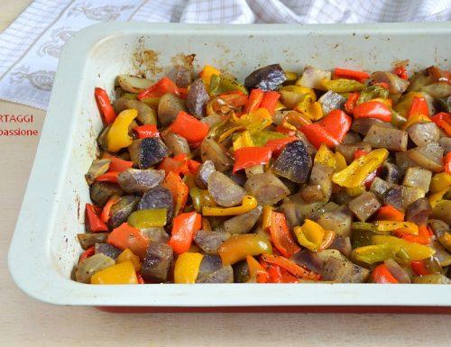 Patate e peperoni al forno – contorno coi fiocchi