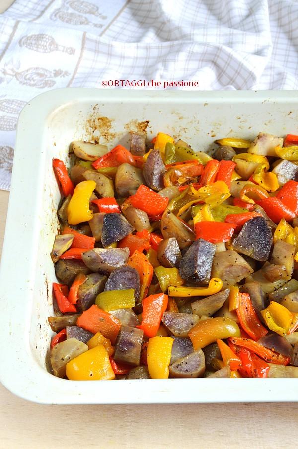 Patate e peperoni al forno ORTAGGI che passione by Sara Grissino