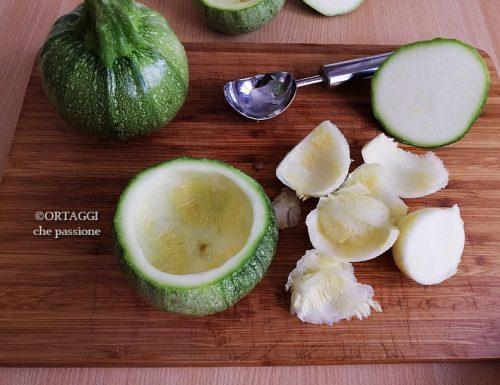 Come svuotare le zucchine tonde