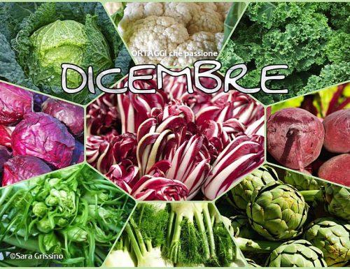 DICEMBRE calendario verdura di stagione