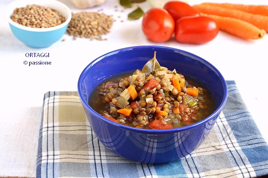 minestra di lenticchie e pomodoro ORTAGGI by Sara Grissino