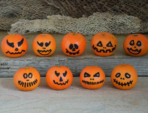 Frutta per Halloween – clementine mostruose