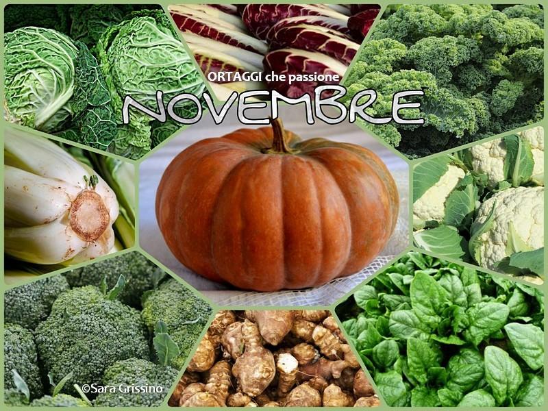 NOVEMBRE calendario verdure autunnali