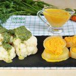 Salsa di carote arancione e verde