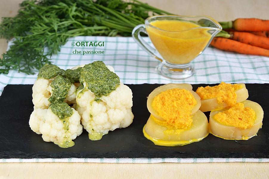 Salsa di carote arancione e verde ORTAGGI che passione